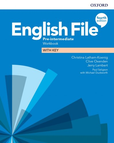 English File (4th Edition) Pre-Intermediate Workbook with key / Робочий зошит