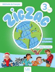 ZigZag 3 Méthode de Français — Livre de l'élève avec CD audio / Підручник для учня