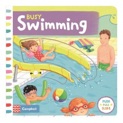 Busy Swimming / Книга з рухаючими елементами