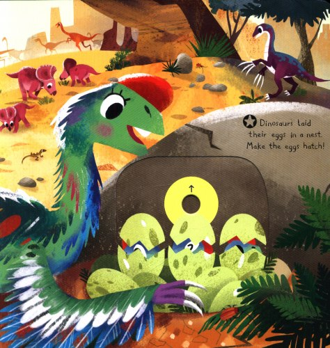 First Explorers Dinosaurs / Книга з рухаючими елементами