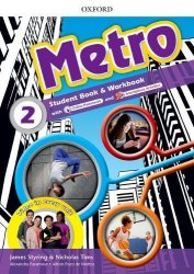 Metro 2 Student's Book and Workbook Pack with Online Homework / Підручник для учня з зошитом