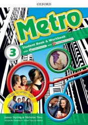 Metro 3 Student's Book and Workbook Pack with Online Homework / Підручник для учня з зошитом