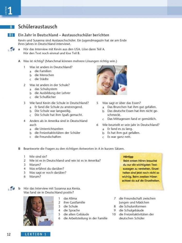 Ausblick 1 b1 arbeitsbuch antworten