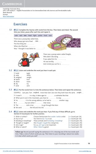 English Pronunciation in Use (2nd Edition) Intermediate with key and Downloadable Audio / Підручник для учня