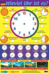 Wieviel Uhr ist es? / Плакат
