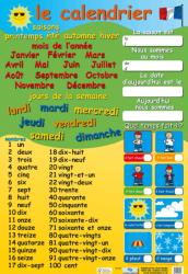 Le calendrier et nombres / Плакат