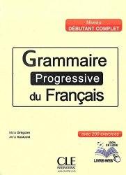 Grammaire Progressive du Français Débutant Complet Livre avec CD audio / Підручник для учня
