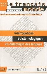 Recherches et applications № 48: Interrogations épistémologiques en didactique des langues / Методичний посібник