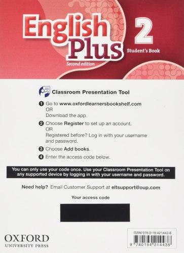 English Plus 2 (2nd Edition) Student's Book Classroom Presentation Tool eBook Pack / Ресурси для інтерактивної дошки