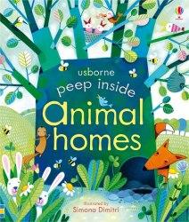 Peep Inside: Animal Homes - Anna Milbourne / Книга з віконцями