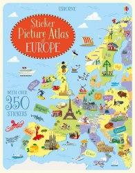 Sticker Picture Atlas of Europe - Jonathan Melmoth / Книга з наклейками
