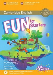 Fun for Starters (4th Edition) Student's Book with Downloadable Audio, Online Activities and Home Fun Booklet / Підручник для учня з буклетом