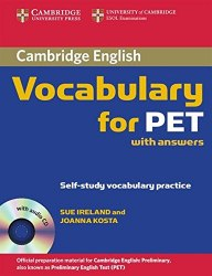 Cambridge Vocabulary for PET with answers and Audio CD