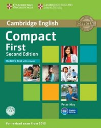 Compact First (2nd Edition) Student's Book with answers and CD-ROM / Підручник для учня з відповідями