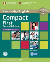 Compact First (2nd Edition) Student's Book without answers with CD-ROM / Підручник для учня без відповідей