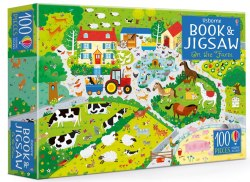An Usborne Jigsaw with a Puzzle Book: On the Farm / Книга з пазлом