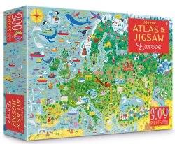 Europe Atlas and Jigsaw / Книга з пазлом