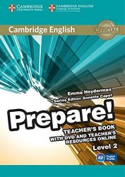 Cambridge English Prepare! 2 Teacher's Book with DVD and Teacher's Resources Online / Підручник для вчителя