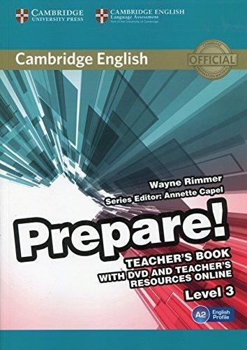 Cambridge English Prepare! 3 Teacher's Book with DVD and Teacher's Resources Online / Підручник для вчителя