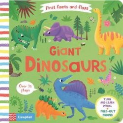 First Facts and Flaps: Giant Dinosaurs / Книга з рухаючими елементами