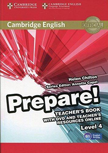 Cambridge English Prepare! 4 Teacher's Book with DVD and Teacher's Resources Online / Підручник для вчителя