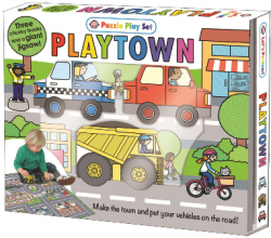 Puzzle Play Set: Playtown / Книга-гра