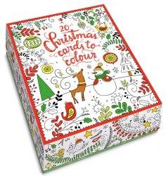 20 Christmas Cards to Colour / Картки