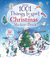 1001 Christmas Things to Spot Sticker Book Usborne Publishing