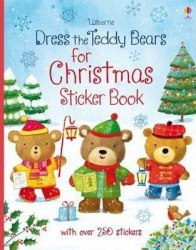 Dress the Teddy Bears for Christmas / Книга з наклейками