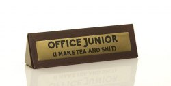 Wooden Desk Sign: Office Junior / Табличка на стіл