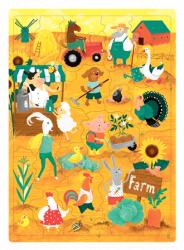 Пазли для дітей Ферма. 30 слів