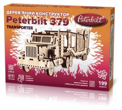 Peterbilt Transporter. Дерев'яний 3D конструктор