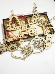 Набор новогодний из 8 шт. игрушек