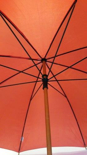 Автоматический зонт красного цвета с деревянной тростью Арт. 99100