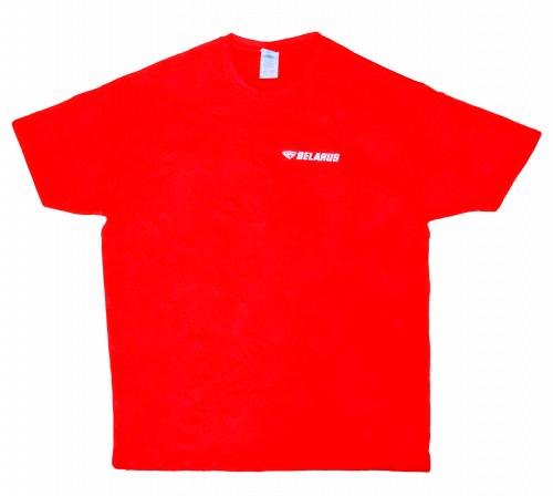 Фуфайка мужская фирменная с логотипом красная JHK TRADER S.L. TSRA150