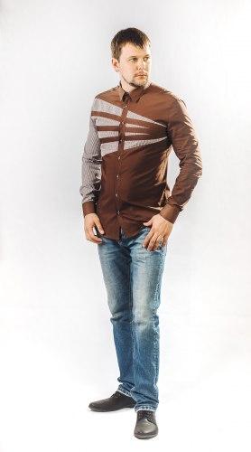 Мужская сорочка Надэкс 624012И
