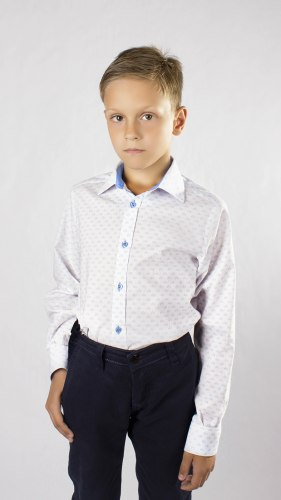 Сорочка для мальчиков младшей школьной группы Озорник 956015И