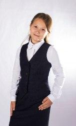 Жилет для девочек младшей школы Модница 001015И