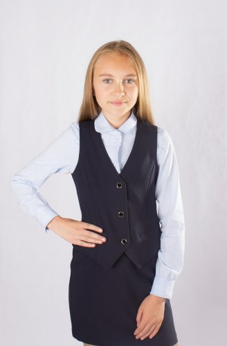 Жилет для девочек младшей школы Модница 012012И