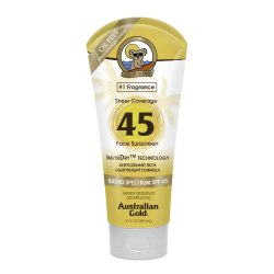Australian Gold SPF 45 InvisiDry Face Sunscreen, Sheer Coverage