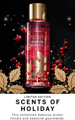 Victoria's Secret CRIMSON BERRIES Scents of Holiday Fragrance Mists