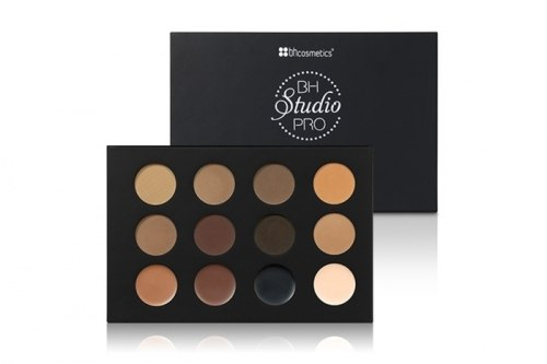 Тени и воск для бровей BH Cosmetics Studio Pro Ultimate Brow Palette 14K Gold