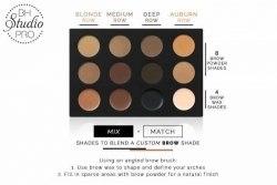 Тени и воск для бровей BH Cosmetics Studio Pro Ultimate Brow Palette 14K Gold