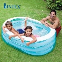 Детский надувной бассейн Intex Oval Whale Fun 163x107x46 (57482)