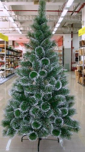 Большая ёлка (сосна) искусственная новогодняя Снежная королева (с настоящими шишками) 210 см