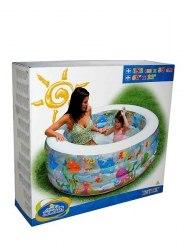 Детский бассейн с надувным дном Intex Aquarium 152х56 (58480)