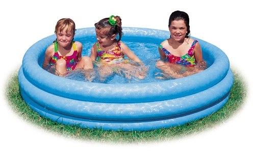 Детский надувной бассейн Intex Crystal Blue 168х41 (58446)