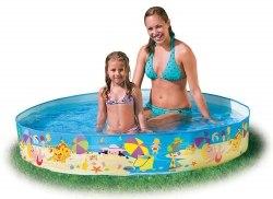 Недорогой детский каркасный бассейн Intex Beach Days Snapset 152х25 (56451)