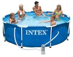 Каркасный бассейн Intex Metal Frame 305х76 (56999/28202) + фильтр-насос