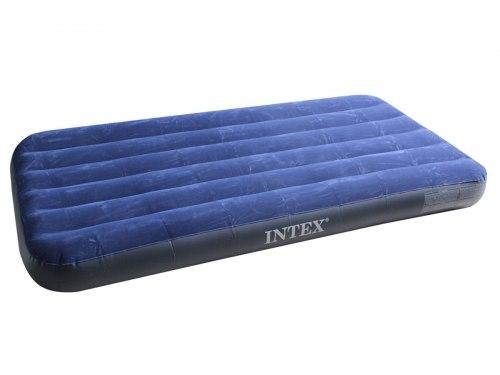 Надувной матрас Intex King Downy Royal Blue 191х99х22 (68757)